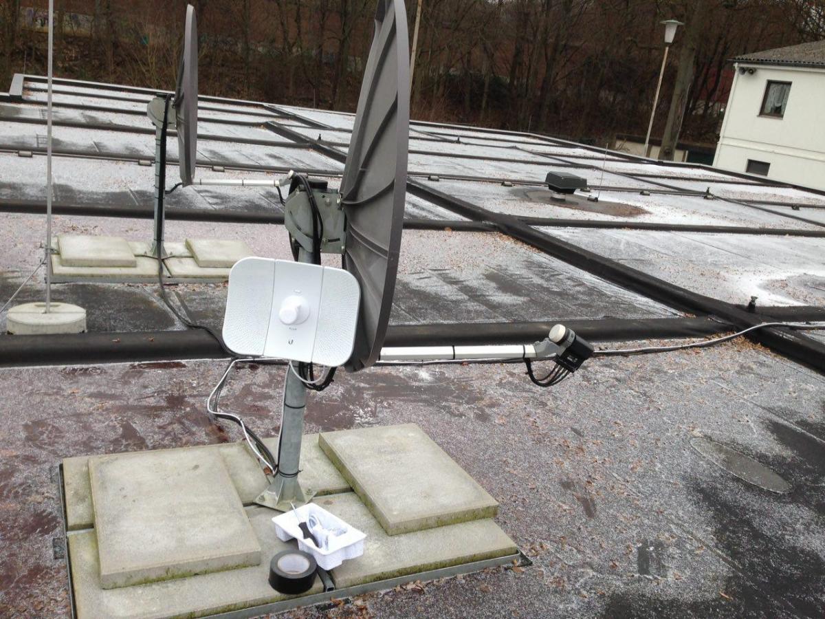 LiteBeam Dachmontage bei Frost